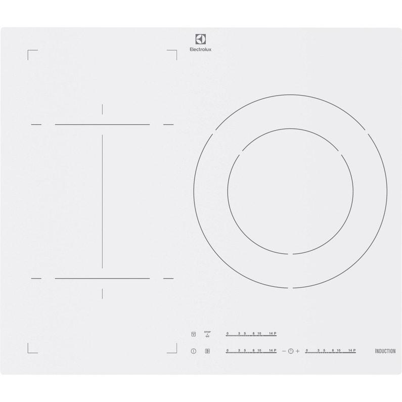 Plaque à Induction 3 Foyers Blanc Electrolux Ehm6532iw1 Leroy Merlin