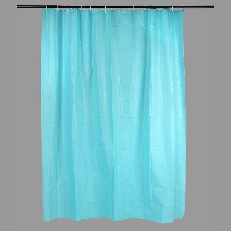 Rideau de douche en plastique bleu l.180 x H.200 cm, Joy SENSEA