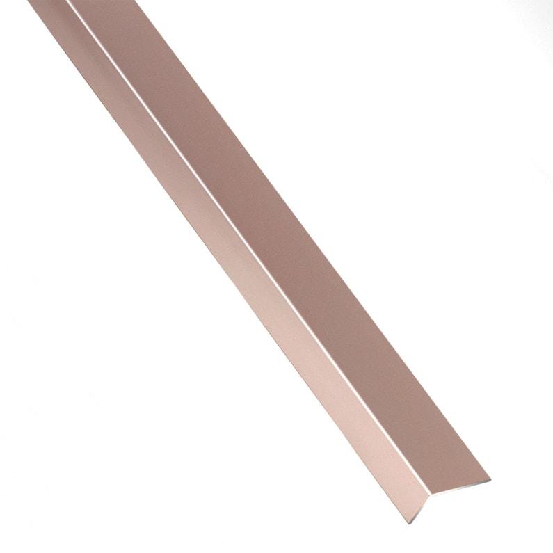 Cornière Inégale Aluminium Anodisé Blancorange L1 M X L16 Cm X H