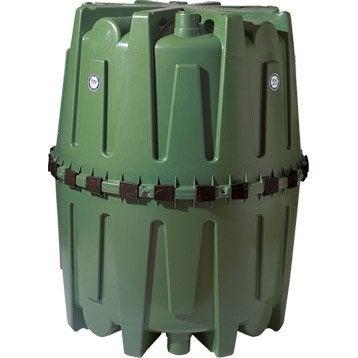 Cuve de récupération d'eau de pluie et maintien 320001 vert 1600 l GARANTIA