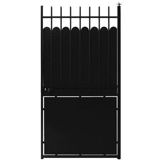 portillon battant hauteclaire x cm noir leroy merlin. Black Bedroom Furniture Sets. Home Design Ideas