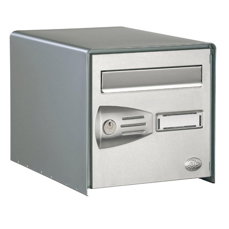 Boîte Aux Lettres 1 Porte Extérieur Decayeux Littoral Acier Gris