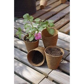 24 pots ronds fibre de bois et tourbe NORTENE