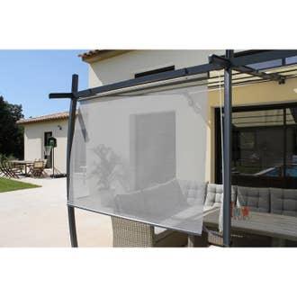 rideau textilne brise soleil gris l170 x l160 cm - Tabouret Leroy Merlin1990