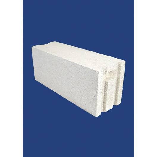 Bloc b ton cellulaire cellumat 15x25x60 cm leroy merlin for Garage bloc beton