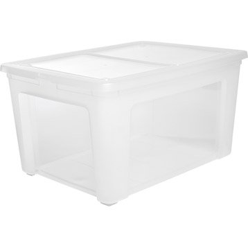 Boite de rangement boite plastique pin carton leroy - Grande boite de rangement plastique ...