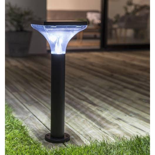 Borne solaire ibiza 200 lm noir inspire leroy merlin for Eclairage exterieur solaire professionnel
