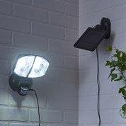 Projecteur à détection solaire Kino 200 Lm noir INSPIRE