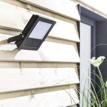 Projecteur à fixer extérieur Broome LED intégrée 20 W = 1400 Lm, noir INSPIRE