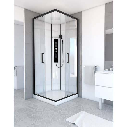 cabine de douche carr x cm urban leroy merlin. Black Bedroom Furniture Sets. Home Design Ideas