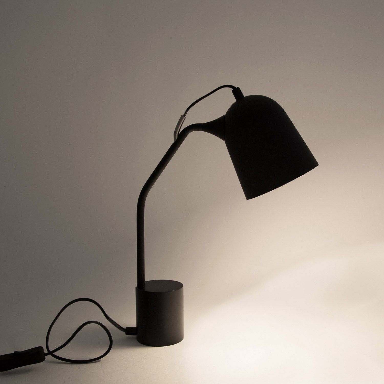 Lampe de bureau, design, métal Magnétic noir