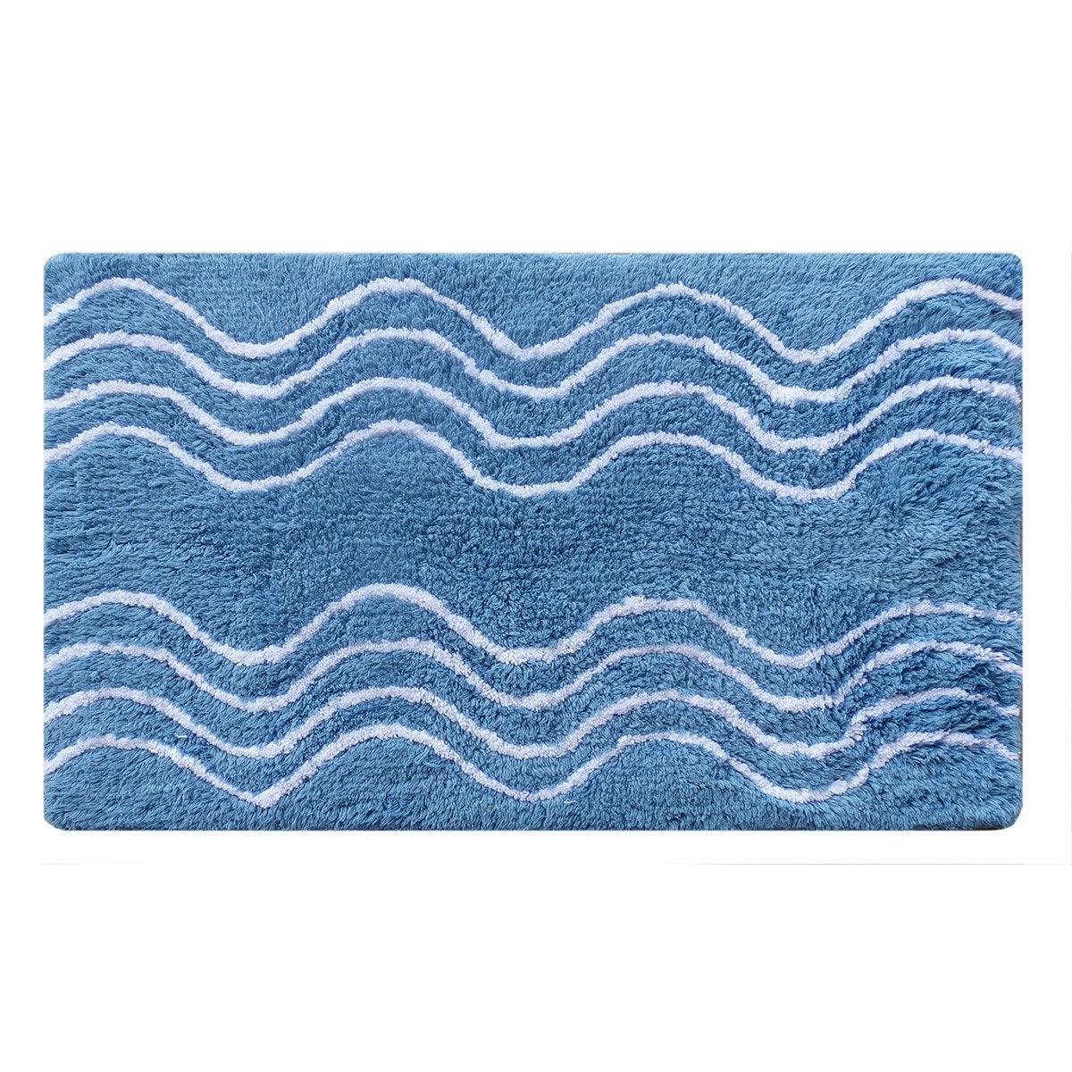 Tapis de bain l.50 x L.80 cm fjord n°3, Waves SENSEA