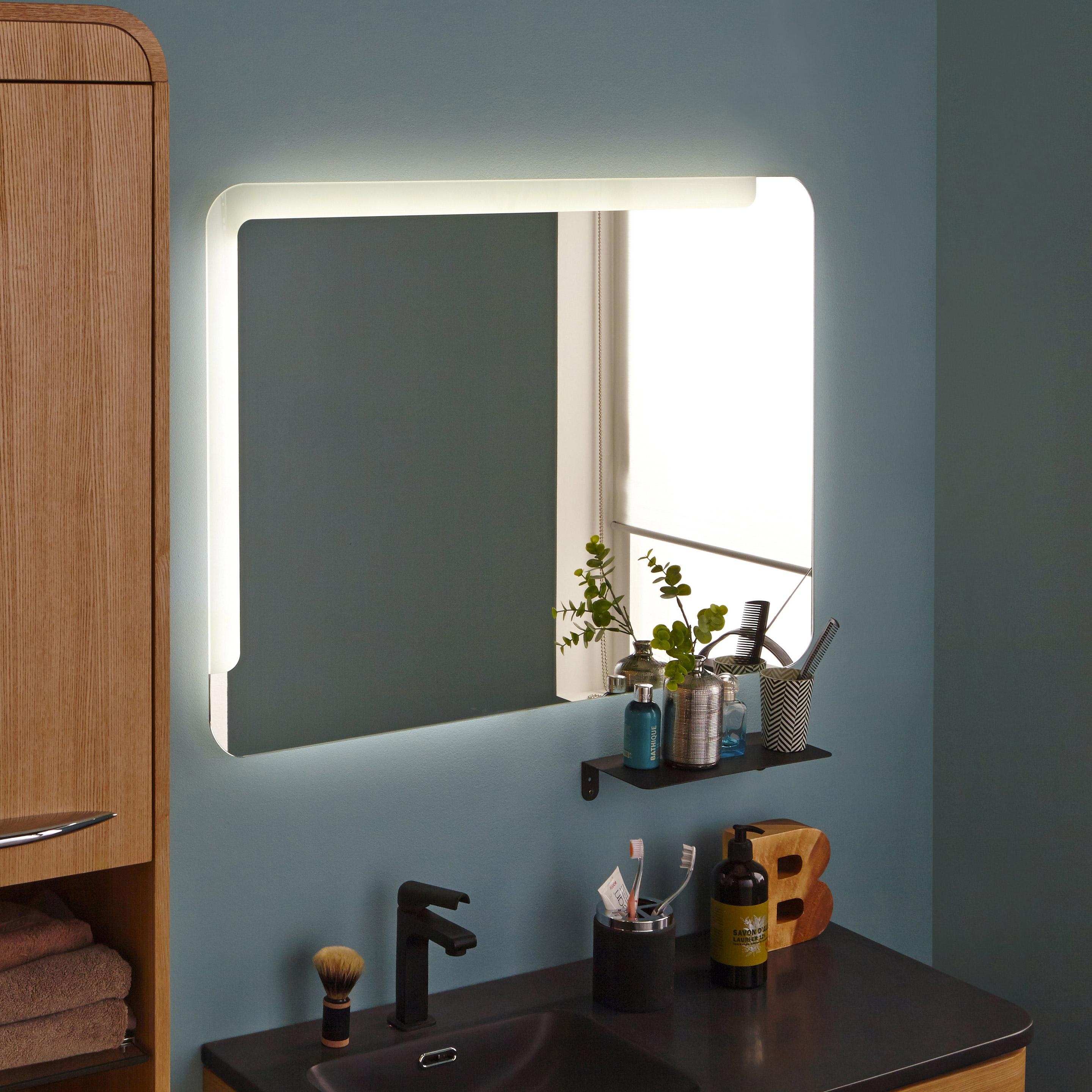 miroir lumineux avec clairage int gr x cm neo. Black Bedroom Furniture Sets. Home Design Ideas