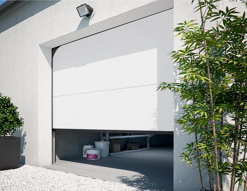 Porte De Garage Sectionnelle Motorisée Primo H200 X L240 Blanc