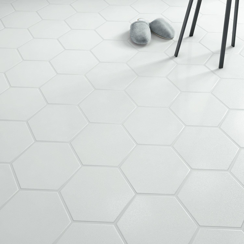 Du carrelage blanc hexagonal  Leroy Merlin