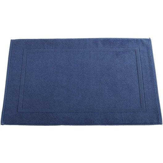 Tapis De Bain L.80 X L.50 Cm Bleu-Bleu N°2, Eponge Sensea | Leroy