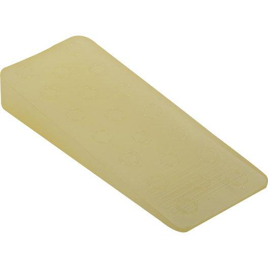 bloque-porte plastique poli h.3.6 x l.10 cm | leroy merlin