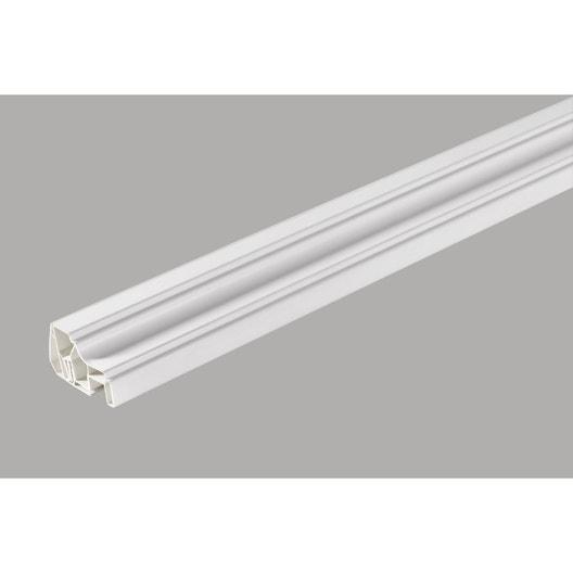 profil de finition clipsable pvc blanc 260x4x5cm leroy merlin. Black Bedroom Furniture Sets. Home Design Ideas
