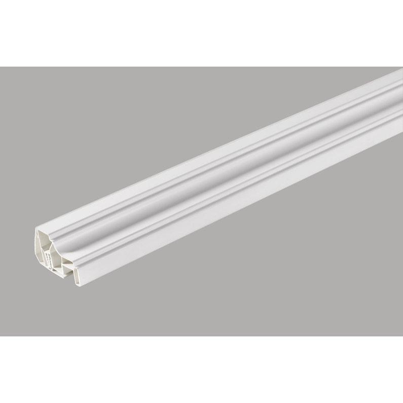 Profil De Finition Clipsable Pvc Blanc 260x4x5cm