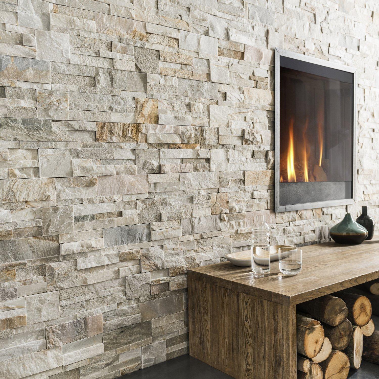 des plaquettes de parement effet pierre pour rechauffer un mur leroy merlin. Black Bedroom Furniture Sets. Home Design Ideas