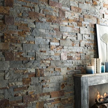Les parements m tamorphosent vos murs leroy merlin for Mur interieur en pierre leroy merlin