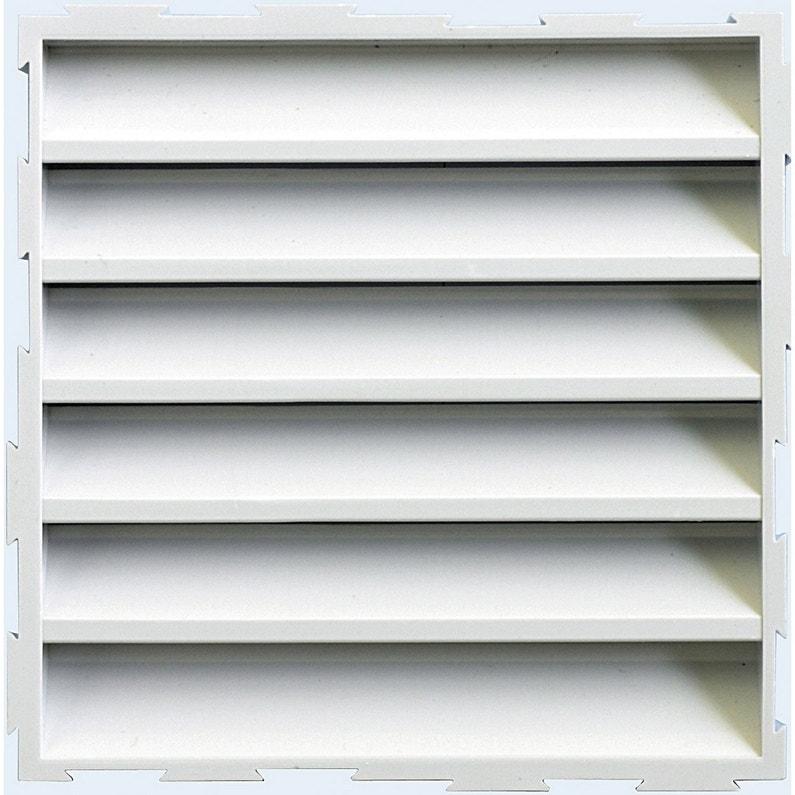 Grille De Ventilation Carrée Pvc L15 X L15 Cm First Plast