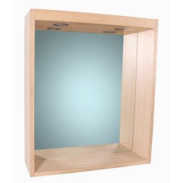 Miroir avec éclairage intégré l. 60 cm, SENSEA Storm