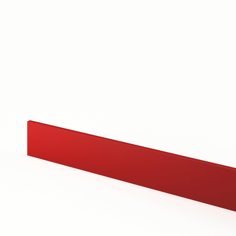 Plinthe de cuisine rouge d lice x cm leroy for Plinthe cuisine 17 cm