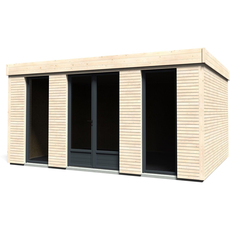 abri de jardin m lange bois verre m tal pierre decor home m ep90mm leroy merlin. Black Bedroom Furniture Sets. Home Design Ideas