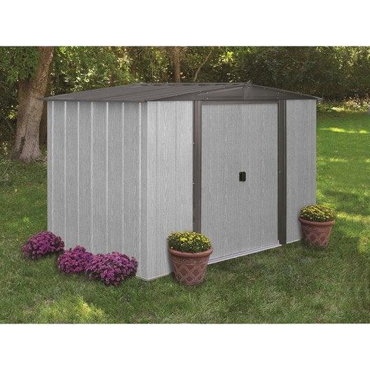 Abri de jardin métal Dw86lm, 4.05 m² Ep.0.22 mm | Leroy Merlin