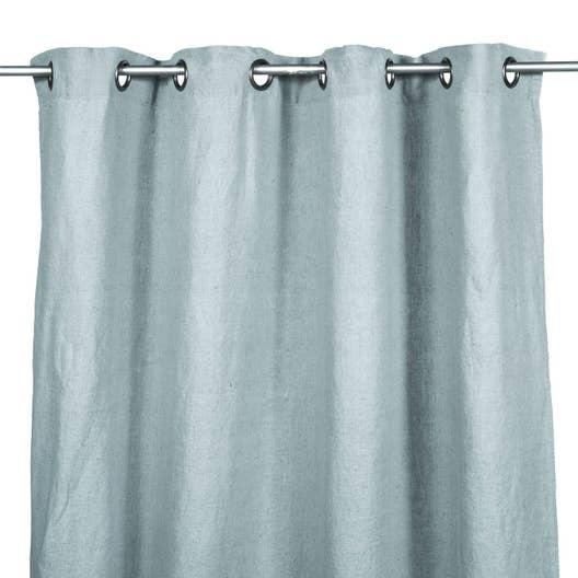 rideau tamisant grande hauteur solenzara bleu ciel x cm leroy merlin. Black Bedroom Furniture Sets. Home Design Ideas