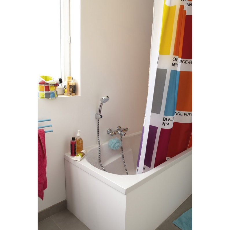Baignoire rectangulaire L.170x l.75 cm blanc, SENSEA Access confort ... b3d12597b8c7