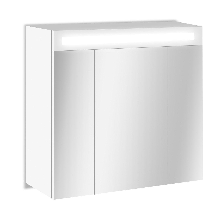 armoire de toilette lumineuse cm blanc telio leroy merlin. Black Bedroom Furniture Sets. Home Design Ideas