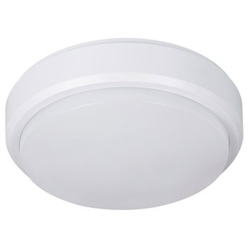 Hublot LED intégrée avec détecteur, 1 X 8 W, rond, blanc chaud