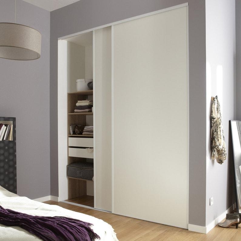 lot de 2 portes de placard coulissante optimum l.210 x h.250 cm