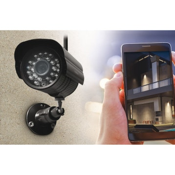 Kit de vidéosurveillance connecté sans fil, intérieur extérieur THOMSON  Dvr423b e8c84e1300c8