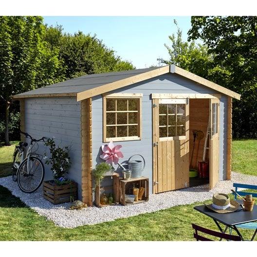 abri de jardin bois florencia m mm leroy merlin. Black Bedroom Furniture Sets. Home Design Ideas