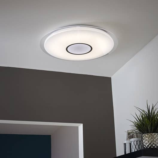 Plafonnier design led int gr e vizzini plastique blanc 1 - Plafonnier design led ...