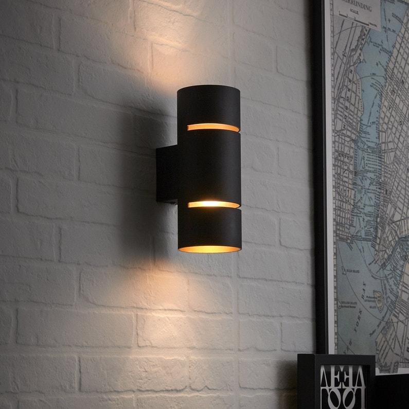 Applique Design Led Intégrée Tubbo Métal Noir Et Cuivre 2 Inspire