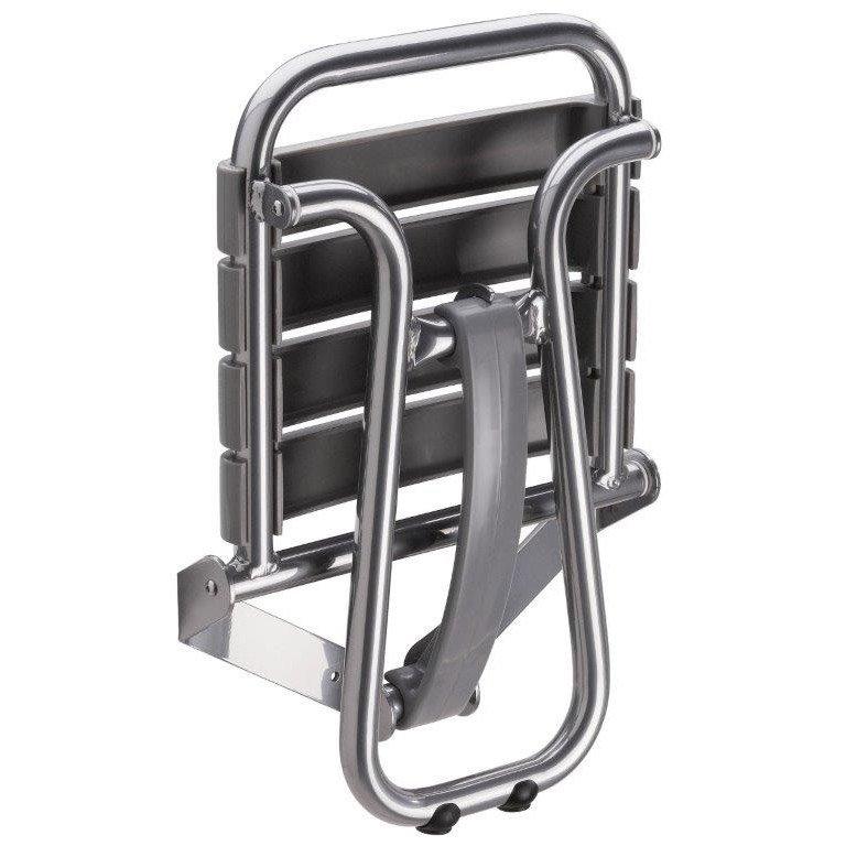 Siège De Douche à Fixer Relevable Aluminium Epoxy Gris
