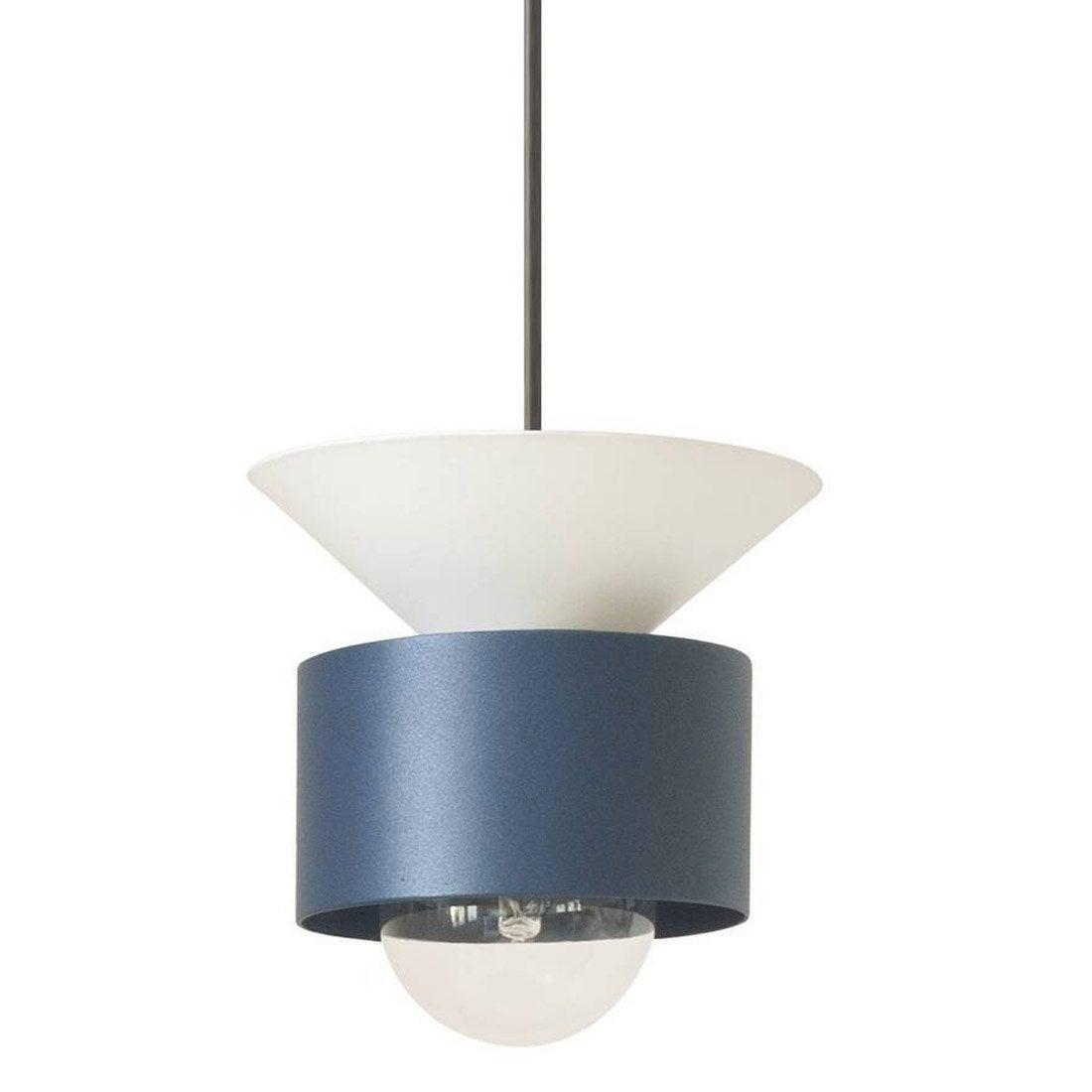 Suspension, E27 design CELESTE métal bleu et blanc 1 x 40 W DESIGNER BOX