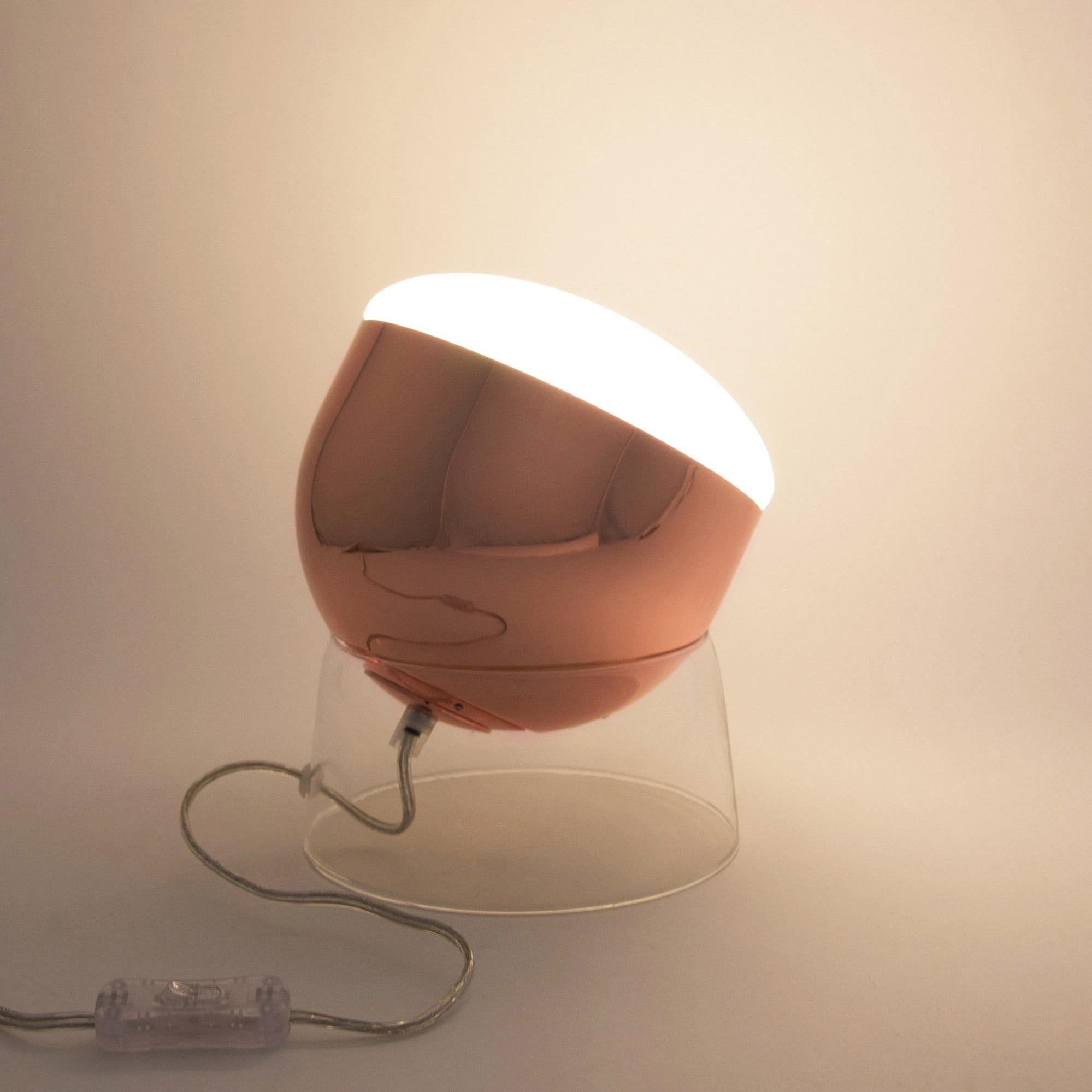 Lampe, design, métal cuivre Glossy