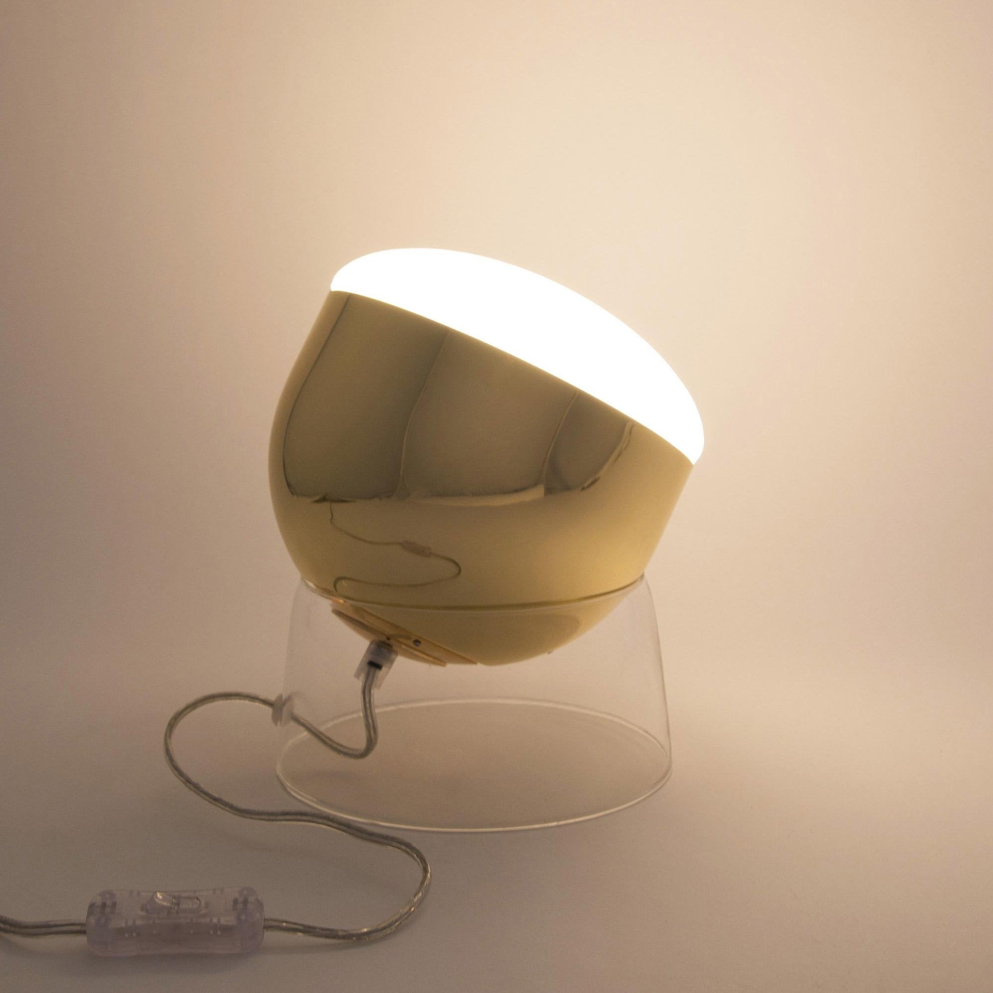 Lampe, design, métal laiton Glossy