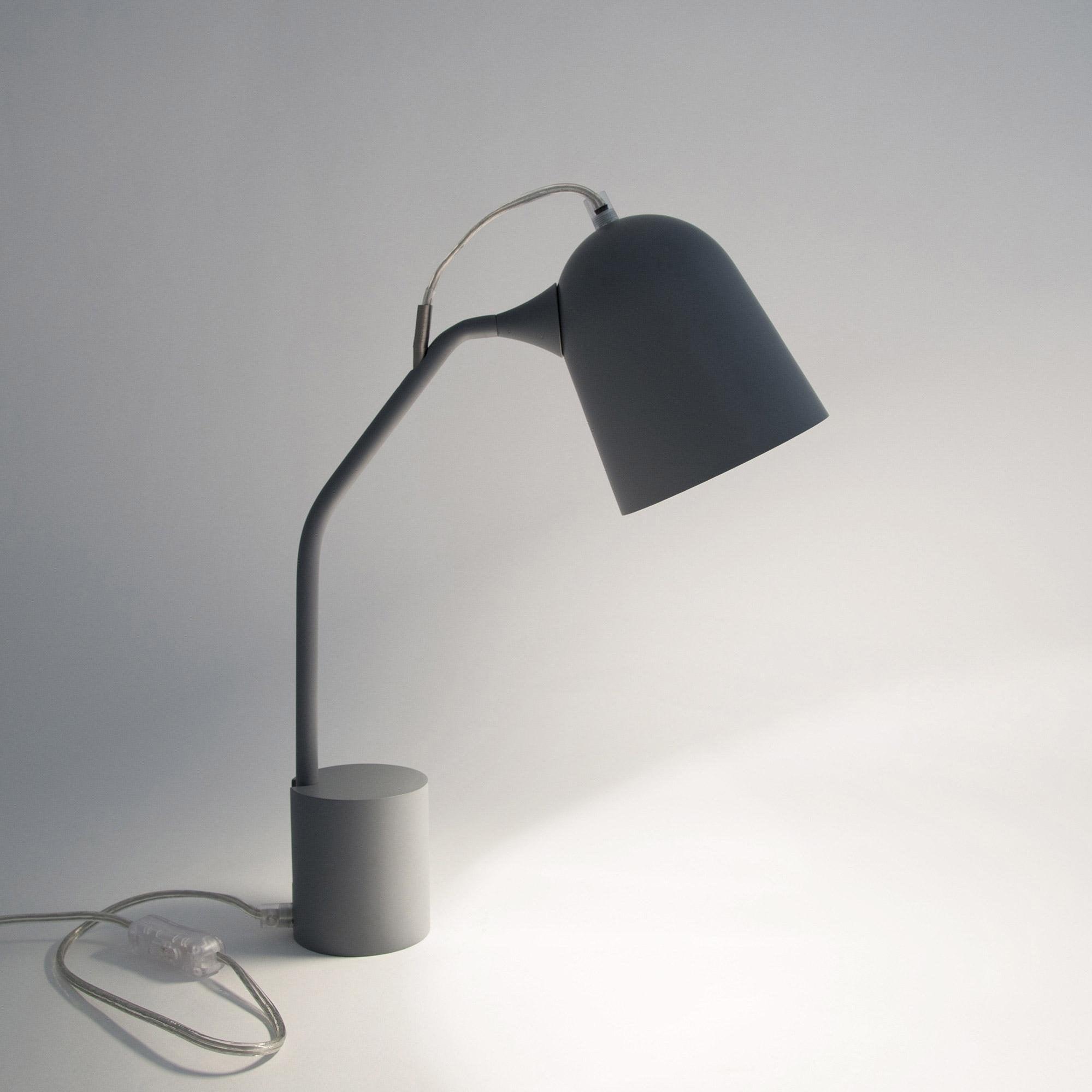 Lampe de bureau, design, métal Magnétic gris