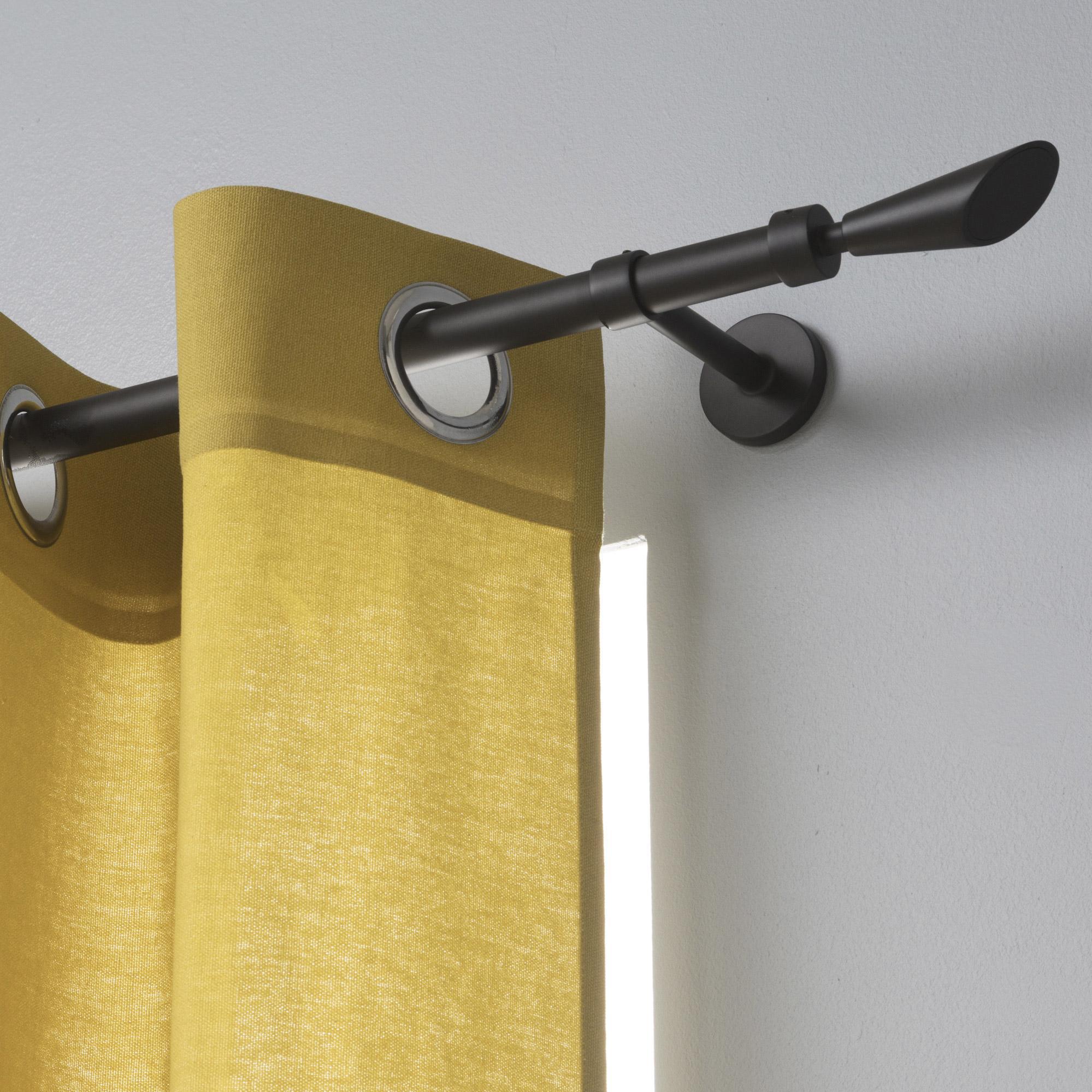 Tringle à rideau noir mat de 160 à 300 cm INSPIRE