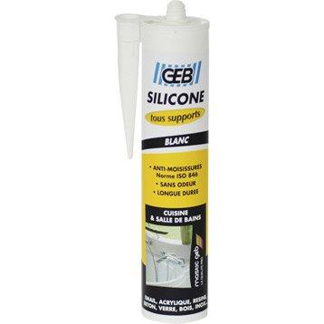 Silicone GEB, blanc, 280 ml