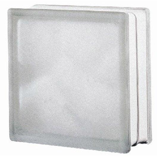 Brique de verre transparent ondul satin leroy merlin - Pave de verre exterieur ...