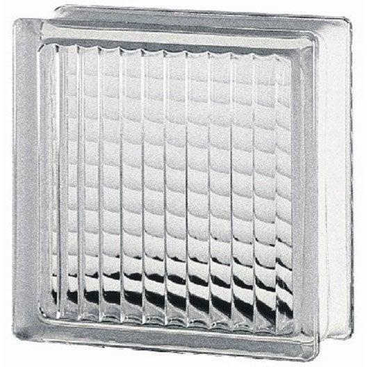Brique de verre transparent quadrill brillant leroy merlin - Pave de verre leroy merlin ...