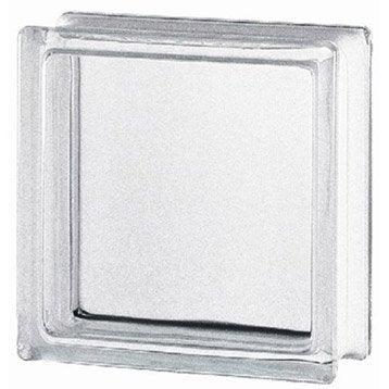 Brique de verre, transparent lisse brillant