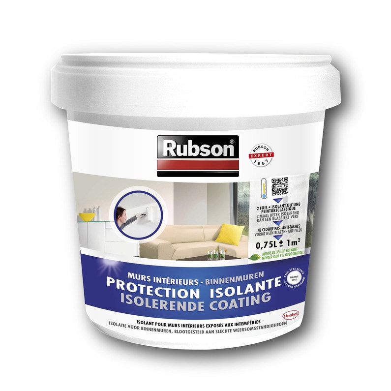 Peinture Anticondensation Stop Condensation Rubson Blanc 0 75 L